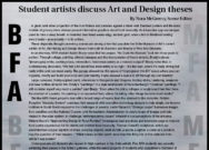 Student artists discuss Art and Design theses