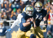 Irish overcome mistakes, slow start to top Pittsburgh